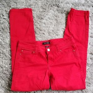 WHBM Red Slim Ankle Blanc Jeans Size 2